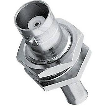 BNC connector Socket, vertical vertical 50 Ω Amphenol B6421A1-NT3G-1-50 1 pc(s)
