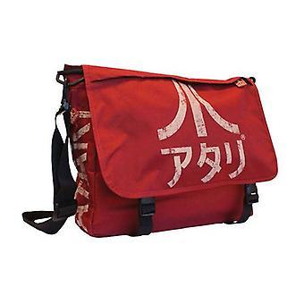 ATARI-Messenger-Bag mit japanischen Logo, Karminrot (MB221005ATA)
