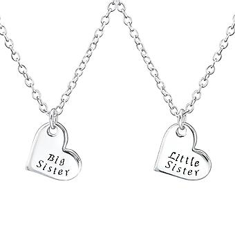 Sister's Love - 925 Sterling Silver Necklaces - W31093x