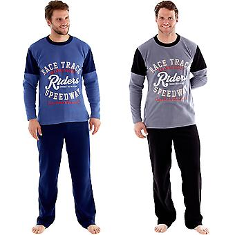 Harvey James Mens Pyjamas Pants Long Sleeve Fleece Top Thermal Loungewear Sets