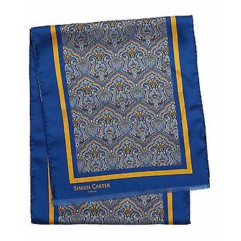 Simon Carter impreso pañuelo de Paisley - azul
