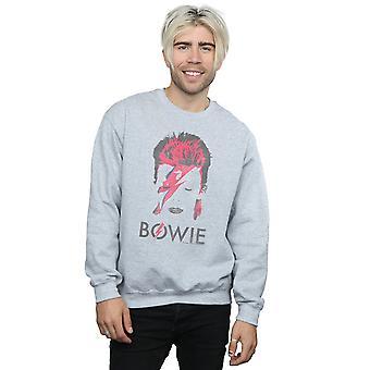 David Bowie Herren-Aladdin Sane Distressed Sweatshirt
