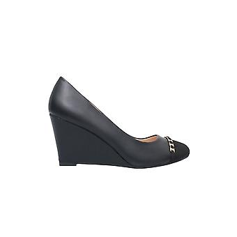 KRISP Suede Toe Wedge Heel Pumps
