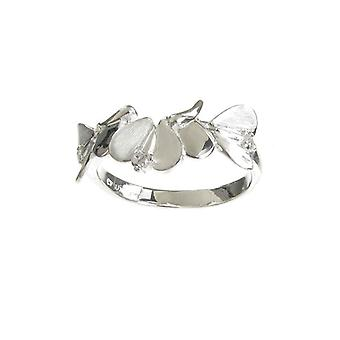 Cavendish French Sterling Silver Abstract Angel Wings Ring