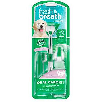 TropiClean Fresh Breath Kit de Higiene Dental para cachorros 59ml