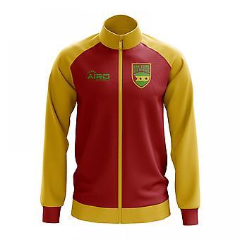 Sao Tome och Principe konceptet fotboll Track Jacket (röd)
