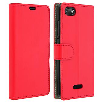 Slim Case, flip book cover, stand wallet case for Wiko Harry 2 - Red