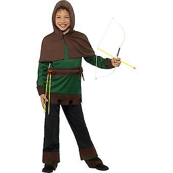 Traje de Robin Hood, disfraces niños, mediana edad 7-9