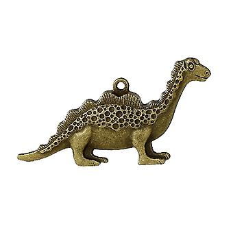 1 x Steampunk Antique Bronze Tibetan 59mm Dinosaur Charm/Pendant ZX06820