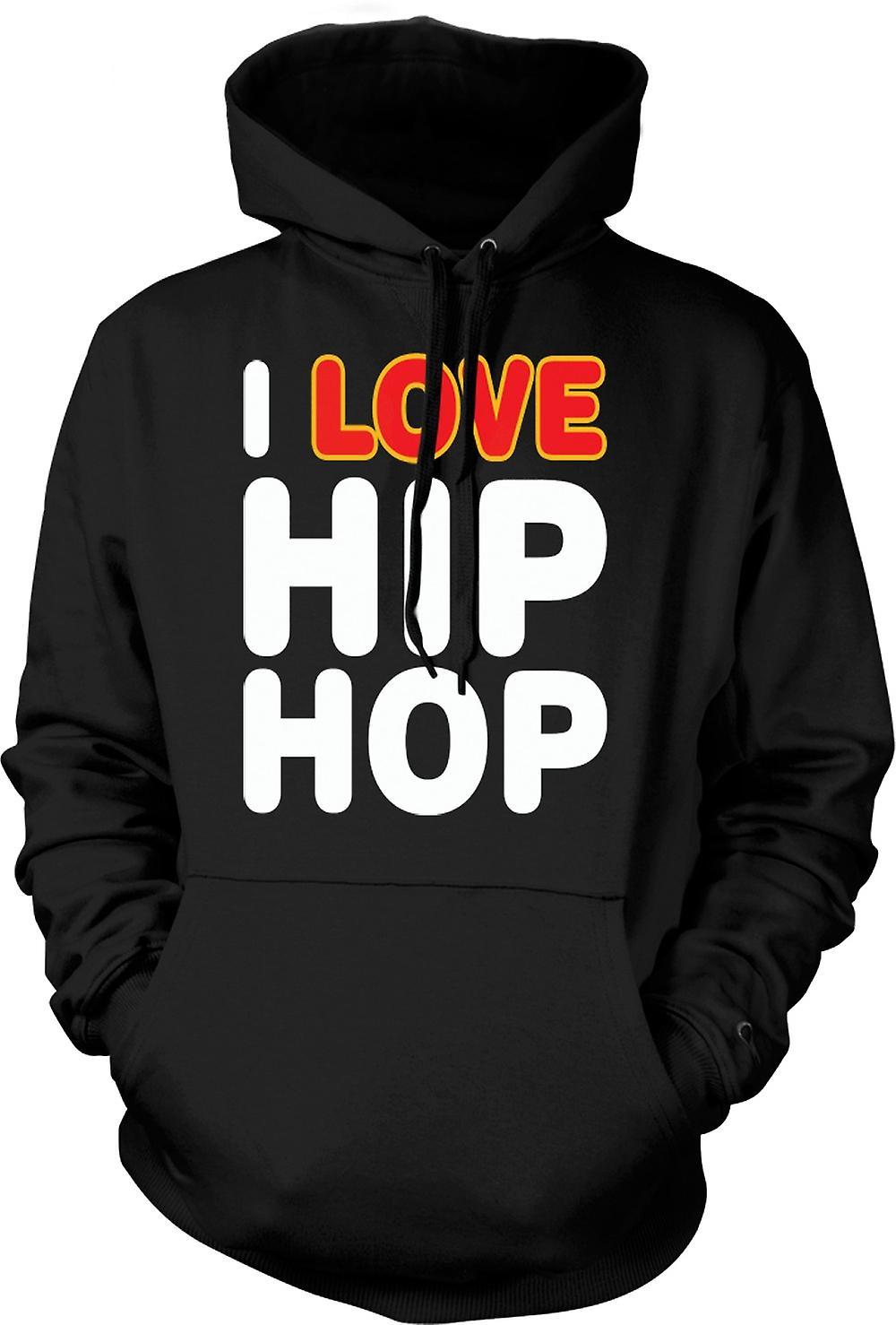 Mens-Hoodie - I Love Hip-Hop - lustig