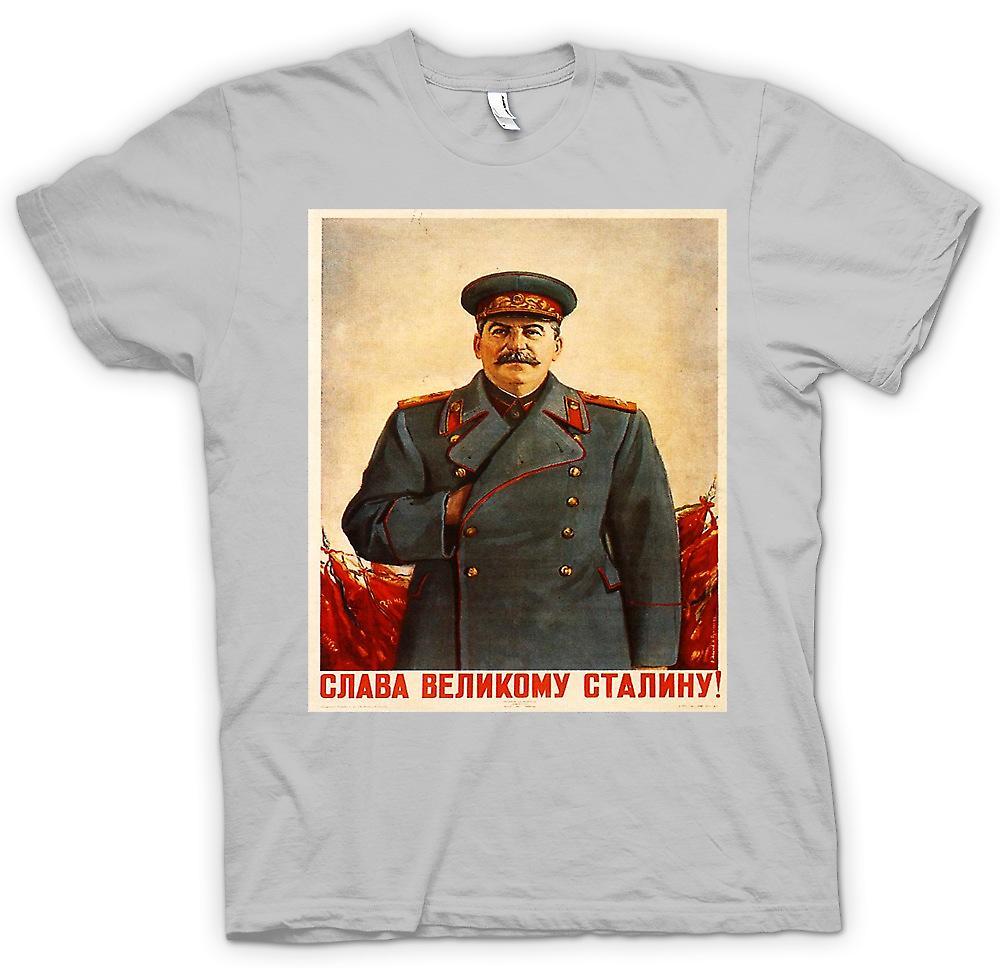 Mens t-skjorte - russisk propaganda plakat - Stalin