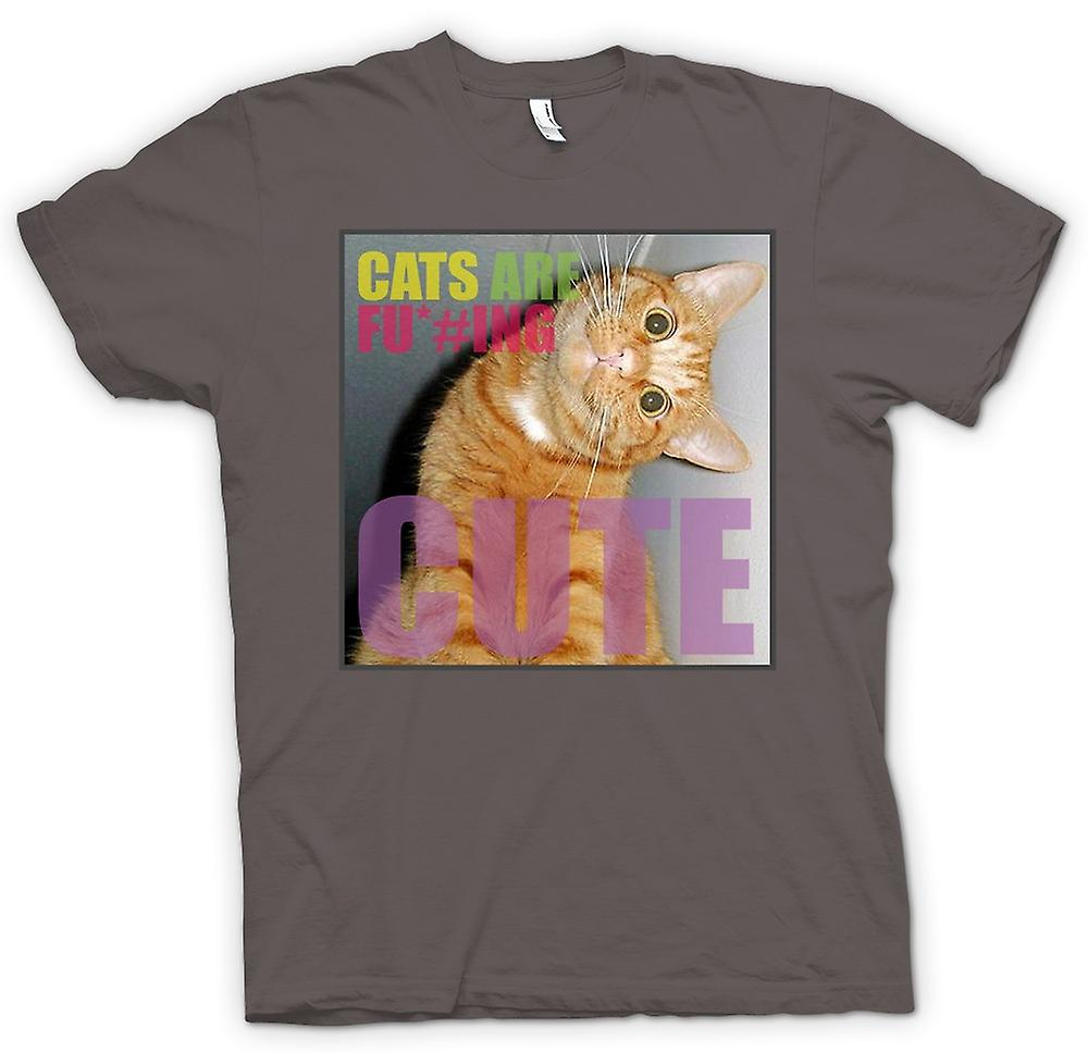 Mens T-shirt - Cats Are F*cking Cute