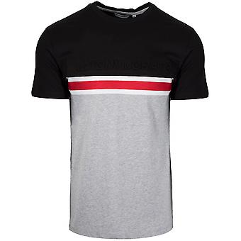 Antony Morato Antony Morato Grey & Black Embossed Logo T-Shirt
