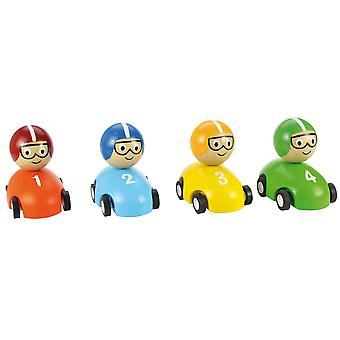 Bigjigs Toys Pull Back Racing Car (Pack of 2)
