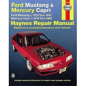 Ford Mustang kvicksilver Capri Automotive Reparationsmanual (Haynes bilreparationer manualer)