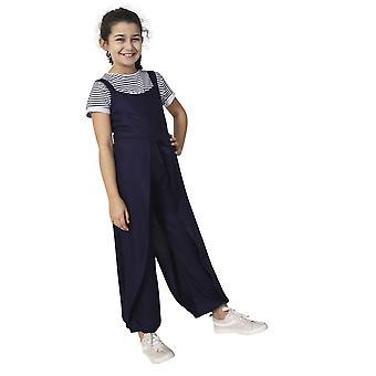 Wide Leg Jumpsuit for Girls - Blue Sleeveless Culotte Dress Age 3-12