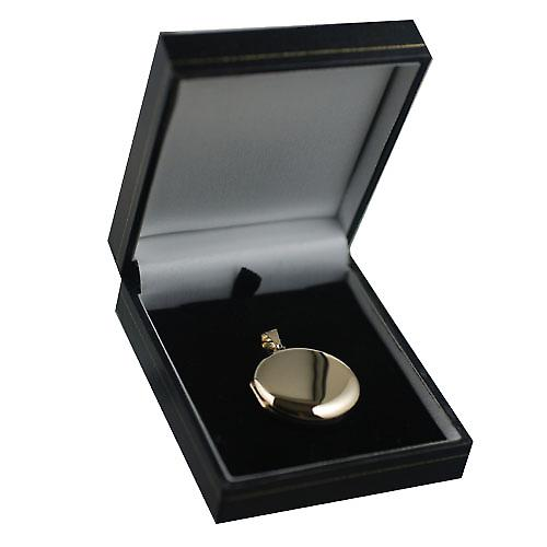 9ct Gold 29mm plain round Locket