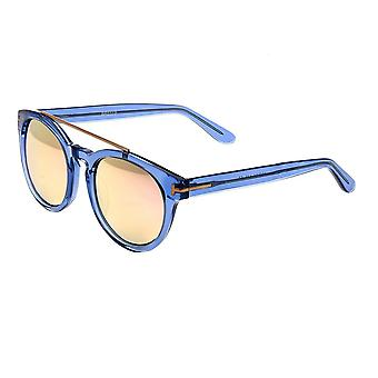 Bertha Ava Polarized Sunglasses - Blue/Rose Gold