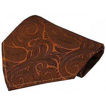 David Van Hagen luksushoteller Paisley silke tørklæde - kobber