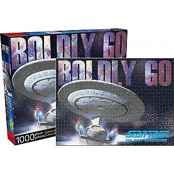 Star Trek Next Generation Boldly Go 1000 piece jigsaw puzzle   (nm)