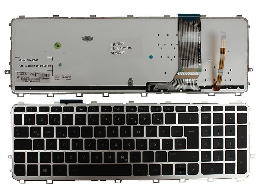 HP Envy 15-j000eb cadre argenté rétro-éclairé noir Windows 8 disposition allehommede remplaceHommest clavier d'ordinateur portable