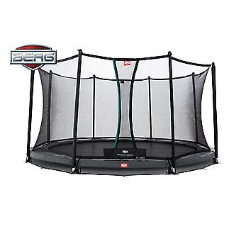 BERG InGround Champion 380 12.5ft Trampoline+ Safety Net Comfort Grey