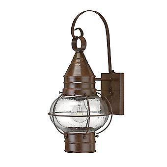 Elstead-1 lys udendørs medium Væglygte lys Sienna bronze-HK/CAPECOD2/M