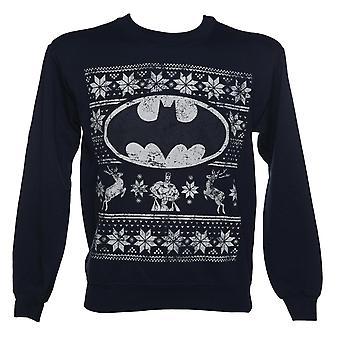 Unisex Navy DC Comics Batman Christmas Jumper