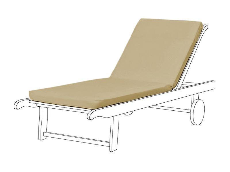 Gardenista® Pierre résistant à l'eau coussin de siège pour Sun Lounger, Pack de 2