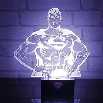 Superhero Mood Light Lamp Superman stance new Official DC Comics
