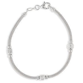 Rhodié silver arm band 19cm