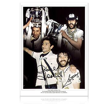 Ricky Villa And Ossie Ardiles Dual Signed Spurs Photograph