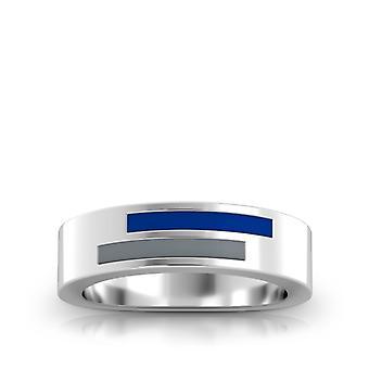 Nova Southeastern University asymmetrisk emalje ring i mørkeblå og grå