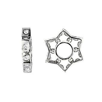 Storywheels Silver & Diamonds Star Charm S040D