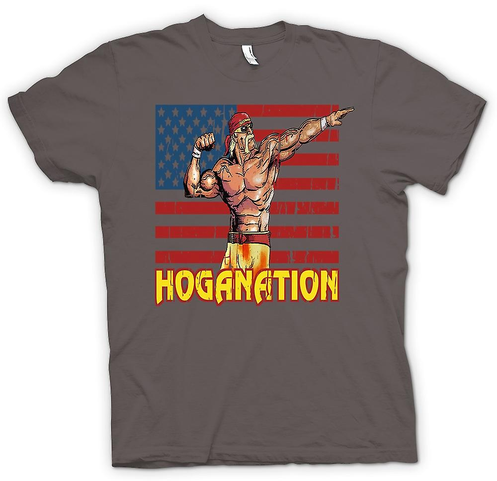 Womens T-shirt - Hoganation - Hulk Hogan U.S. Flag
