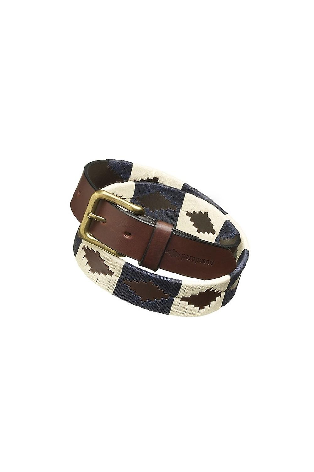 Pampeano Jugador Leather Polo Belt Navy & Cream