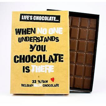 Lustige Boxed Schokolade Zitat Geschenk für Männer Frauen beste Freundin Grußkarte für ihn oder ihre LC115