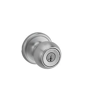 Stanley 93080-001 Circa Entry Knob featuring SmartKey in Satin Chrome