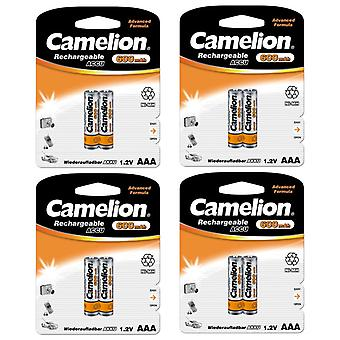 8x Camelion rechargeable batteries AAA NiMH 600mAh battery