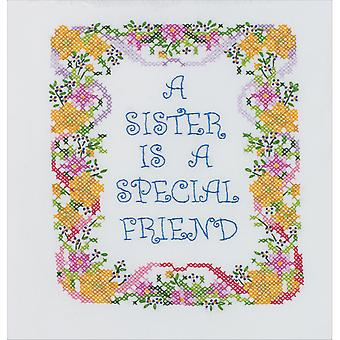 A Sister Is A Special Friend Stamped Cross Stitch Kit 7