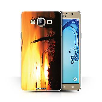 STUFF4 Case/Cover for Samsung Galaxy On7/G600/Tree Tops/Sunset Scenery