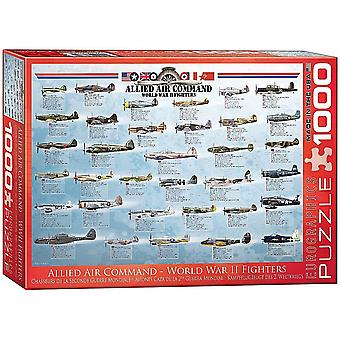 World War 2 Fighters (Allied Air Command) 1000 piece jigsaw puzzle  680mm x 490mm  (pz)