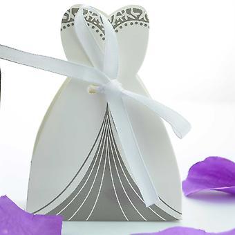 100 de la novia y el novio boda favor cajas (50 novia & novio 50) estilo 2