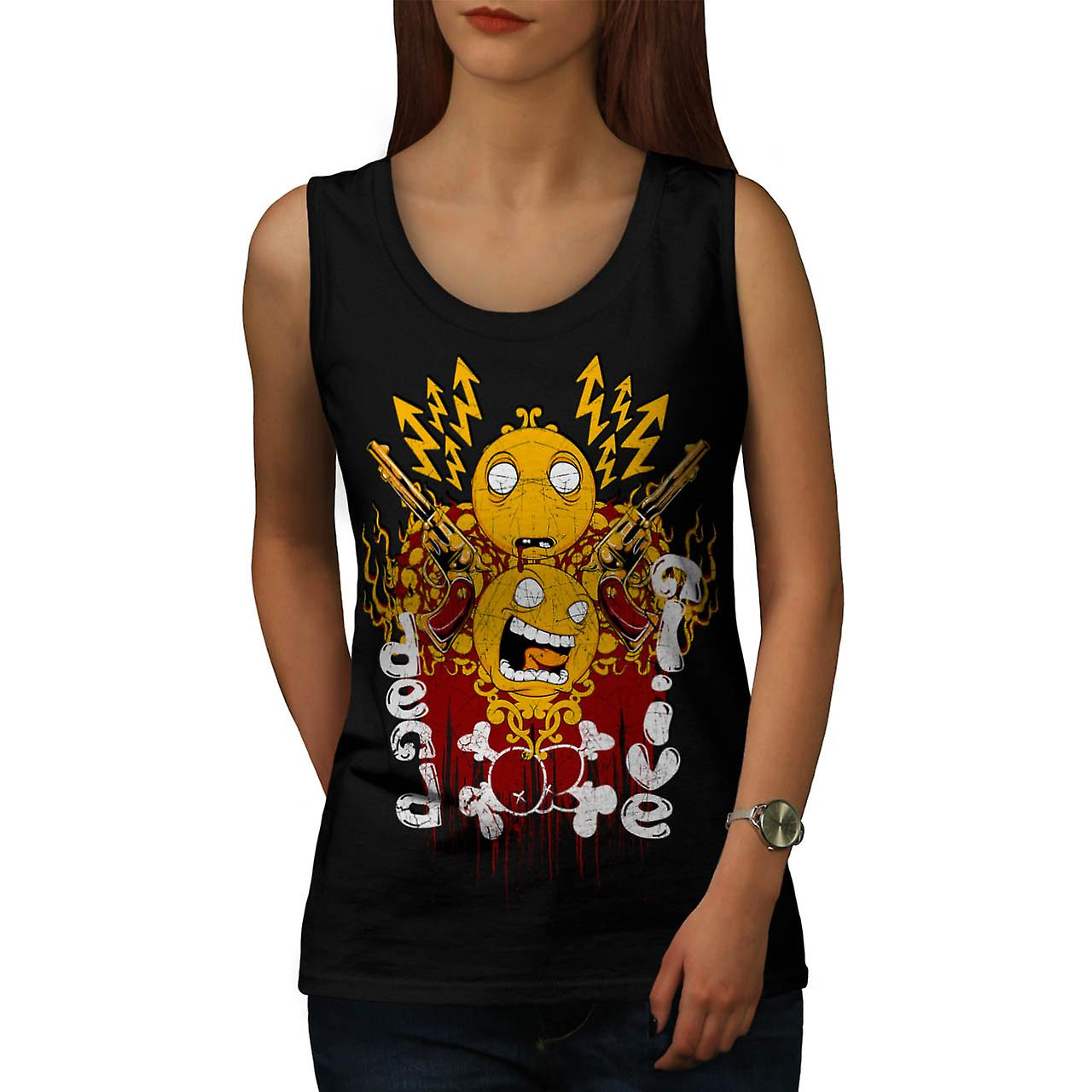 Dead Or Alive Gun Horror Women Black Tank Top | Wellcoda