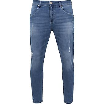 Urban Classics - Skinny Ripped Stretch Jeans blue washed