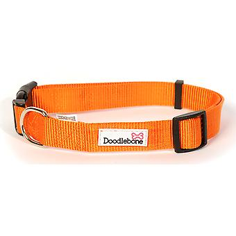 Doodlebone Bold Nylon Collar Orange Extra Large 25mm X60-75cm