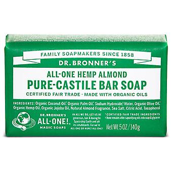 Dr Bronner's Almond Soap 140 gr (Hygiene and health , Shower and bath gel , Hand soap)