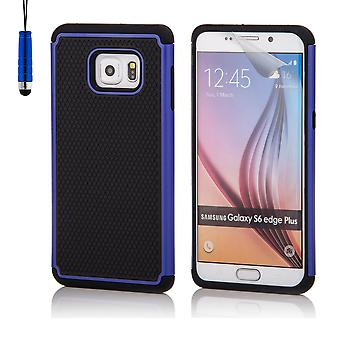 Shock proof case for Samsung Galaxy S6 Edge+ (S6 Edge Plus) including stylus - Deep Blue