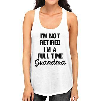 Full Time Grandma Women's White Tanks Funny Gift Ideas For Grandma