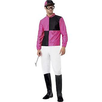 Smiffys Jockey Costume With Top Trousers Bootcovers Hat And Goggles (Kostüme)
